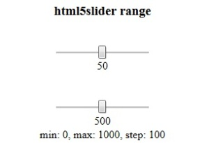 HTML5 input types range