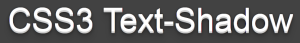 3D text-shadow CSS3-al
