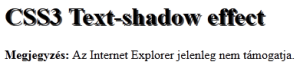 CSS3 text-shadow effect