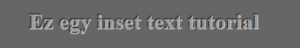 CSS3 inset text
