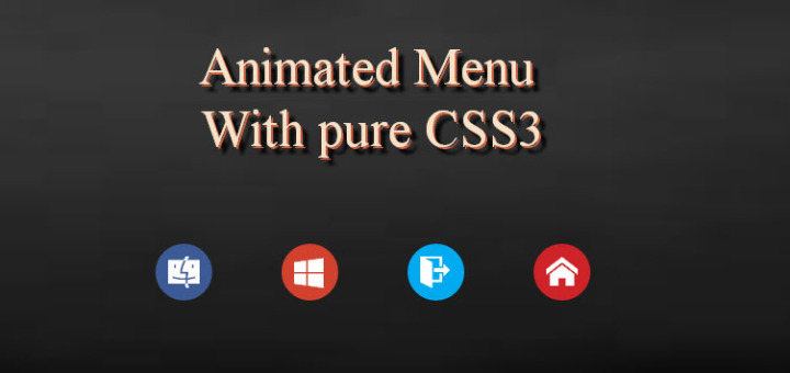 Animated CSS3 menu