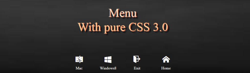 CSS3 Black&White menu