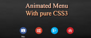 CSS3 animated menu